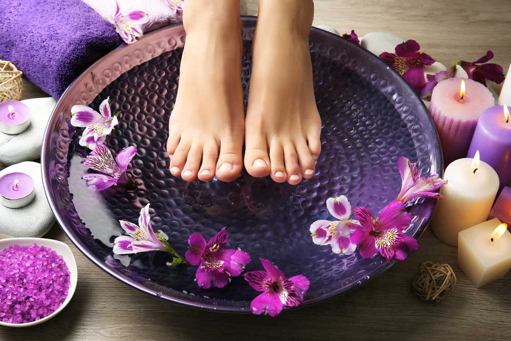 feet clean